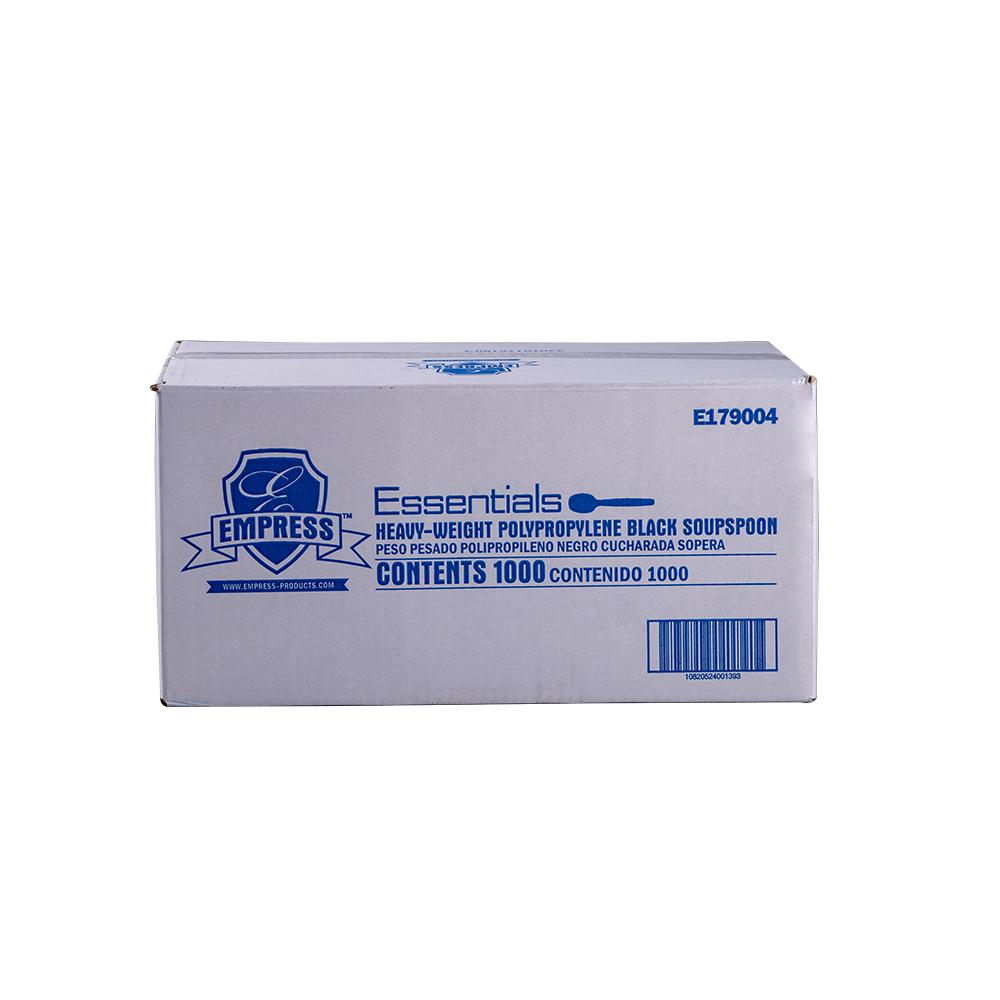 SOUP SPOON E179004 EMPRESS HVY WT BLACK POLYPRO 1000/CS