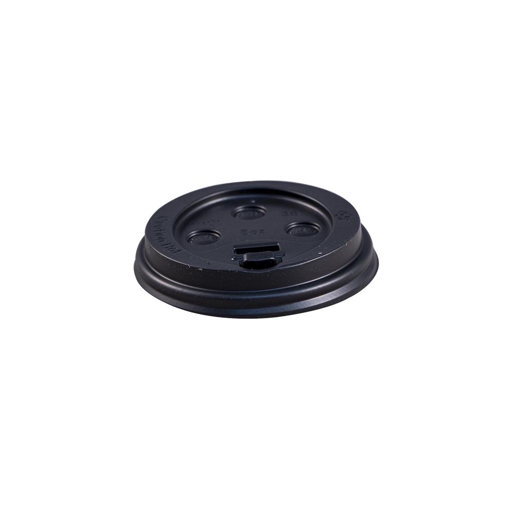 LID EDHCL-8-B BLACK PLASTIC  DOME FOR 8 OZ 1000/CS